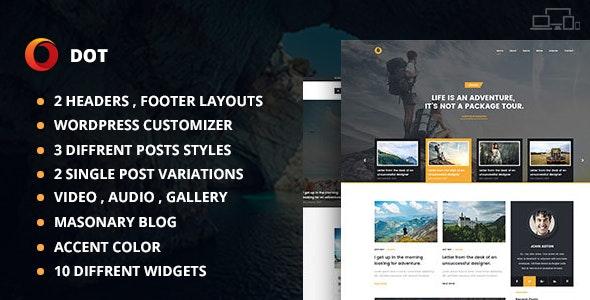 Dot Blog Pro - Creative WordPress Theme For Bloggers - Blog / Magazine WordPress