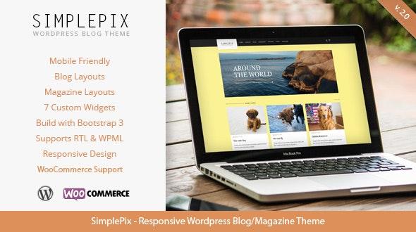 SimplePix - Responsive WordPress Blog Magazine Theme - Blog / Magazine WordPress
