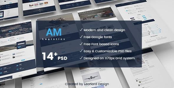 Amlogistic | Transportation & Logistics PSD Template by