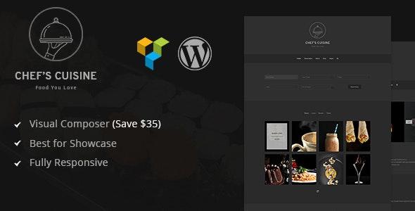 Chef's Cuisine  - Minimalist Restaurant Reservation WordPress Theme - Restaurants & Cafes Entertainment