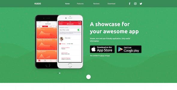 KUDO – App Landing Page