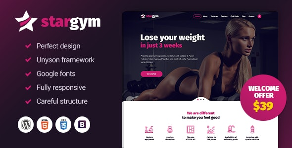 Stargym - Gym Trainer, Fitness Club and Gym WordPress Theme - Health & Beauty Retail