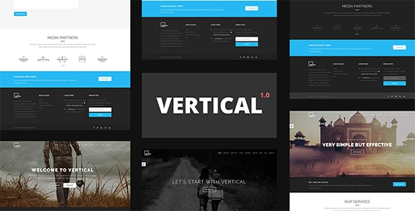Vertical - One Page Multipurpose HTML5 Template - Business Corporate