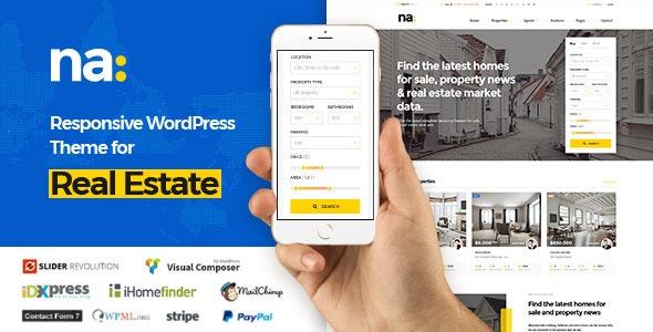 NA - Responsive WordPress Theme for Real Estate - Real Estate WordPress