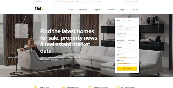 NA - Responsive Real Estate WordPress Theme