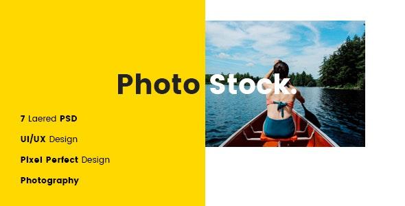 Photostock PSD Template - Photography Creative