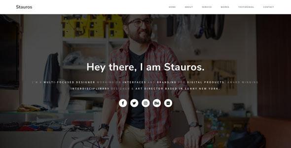 Stauros - Personal Portfolio HTML Template - Personal Site Templates