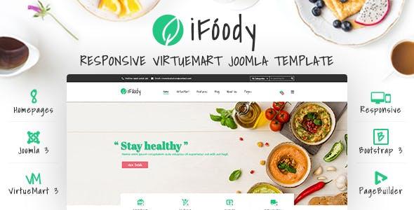 Vina iFoody - Responsive VirtueMart Joomla Template