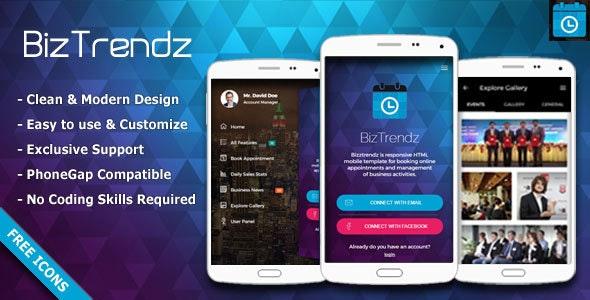 BizTrendz - Multipurpose HTML Mobile Template - Site Templates