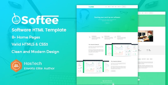 Softee - SaaS & Software Landing Page HTML Template - Software Technology