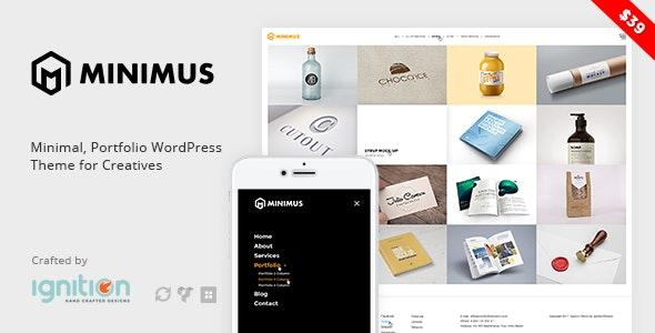 Minimus - Minimal, Portfolio WordPress Theme for Creatives - Creative WordPress