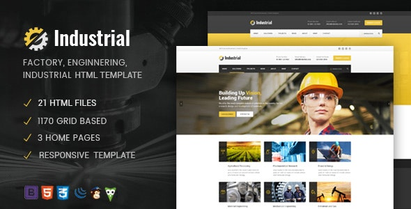 Industrial - Factory / Industry / Engineering HTML Template - Business Corporate