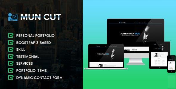 Mun Cut Personal Portfolio HTML Template