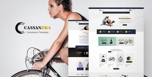 Cassandra - Gym Commerce - eCommerce Muse Templates