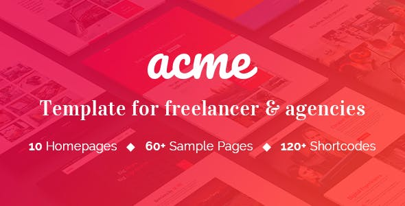 ACME - Theme for freelancers & agencies