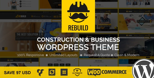 ReBuild - WP Construction & Building Business Theme - Business Corporate