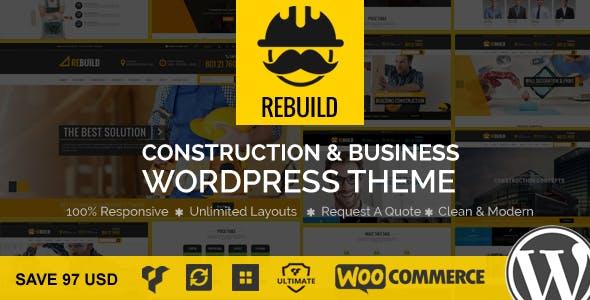 ReBuild - WP Construction & Building Business Theme