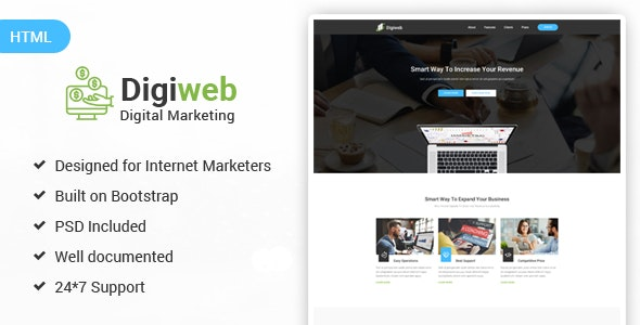 Digiweb Internet Marketing Landing Html Template By