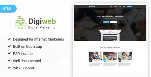 DigiWeb - Internet Marketing Landing HTML Template