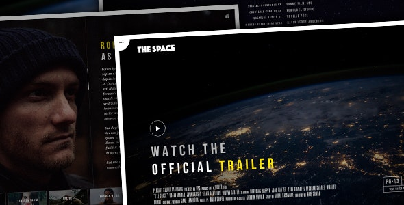 The Space - Single Film Campaign WordPress Theme - Film & TV Entertainment