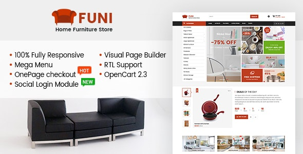 Funi - Drag & Drop eCommerce OpenCart 3 & 2.3 Theme - Shopping OpenCart