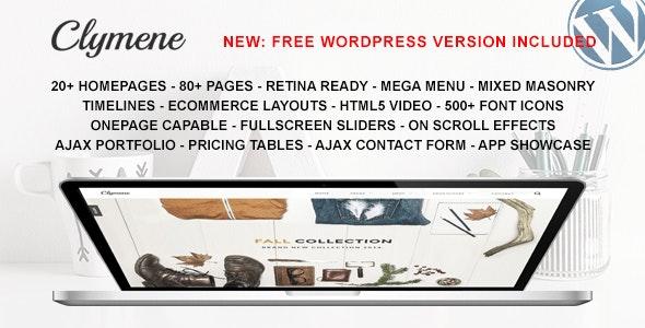 Clymene - Multipurpose HTML5 Template - Corporate Site Templates