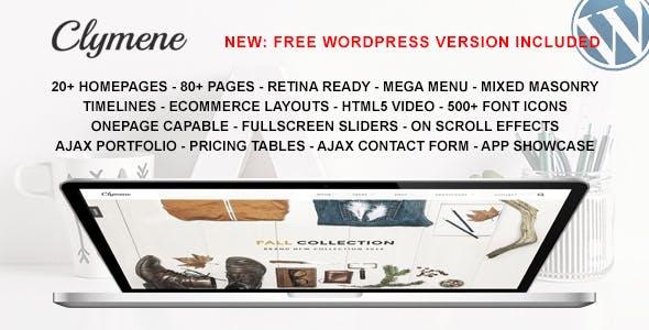 Clymene - Multipurpose HTML5 Template