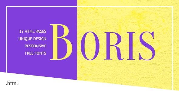 Boris - Creative Portfolio HTML Template - Portfolio Creative