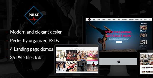 Pulse - PSD for gym, fitness, yoga, crossfit and sport websites with shop. - Health & Beauty Retail