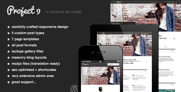 Project 9 - Creative WordPress Theme - Creative WordPress