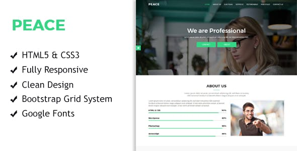 Peace - Multi Purpose Startup Landing Pages