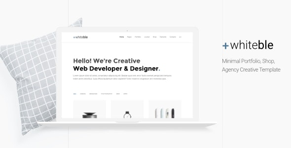 Whiteble - Minimal Portfolio, Agency, Shop, Creative HTML Template - Creative Site Templates