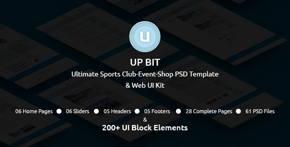 UP BIT - The Ultimate Sports Club-Event-Shop PSD Template and Web UI Kit - Miscellaneous Photoshop