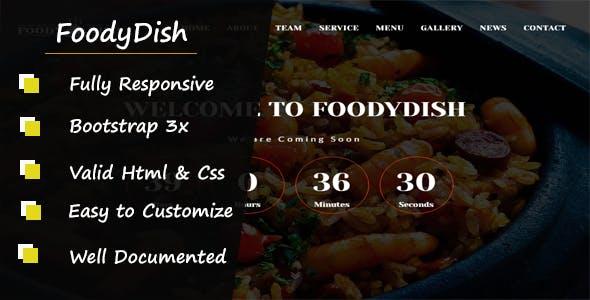 Foodydish - Responsive Coming Soon Template