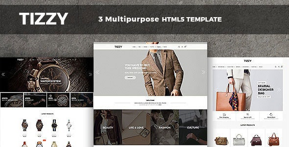Tizzy - Responsive Multipurpose E-Commerce HTML5 Template - Retail Site Templates