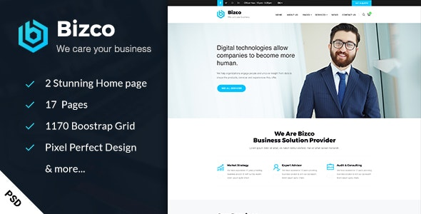Bizco - Business & Consulting PSD Template - Business Corporate
