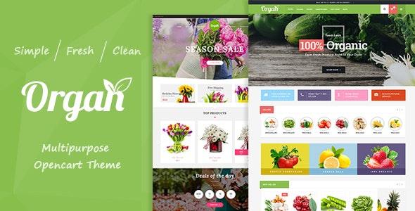 Organ - Organic Food & Flower Store Responsive OpenCart Theme - Shopping OpenCart