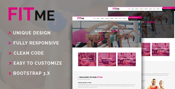 Fitme - Yoga, Gym & Fitness One Page HTML Template - Health & Beauty Retail
