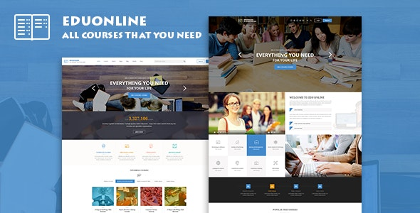 Eduonline - Education & University WordPress Theme - Education WordPress