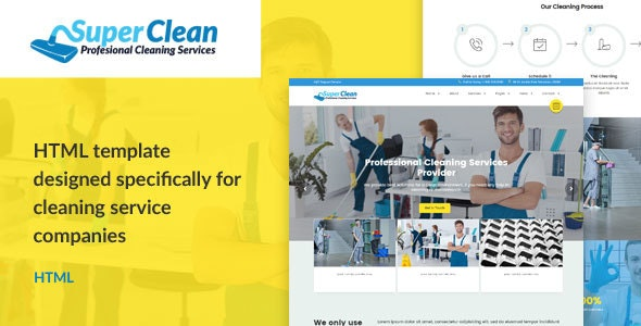Super Clean - Cleaning Services HTML Template - Business Corporate