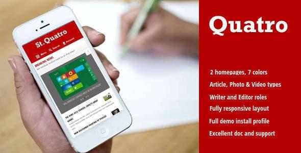 Quatro - News & Magazine Drupal 8 Theme - News / Editorial Blog / Magazine