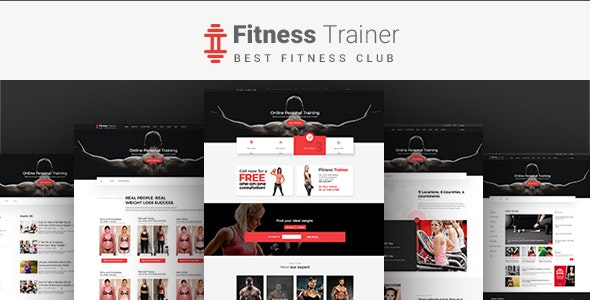 FitnessTrainer - Responsive Bootstrap Template - Health & Beauty Retail
