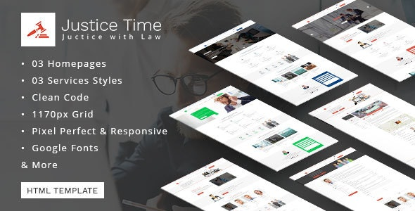 Law Firm and Lawyer HTML Template - Justice Time - Corporate Site Templates