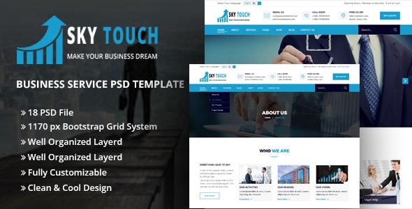SKY TOUCH - Business PSD Template - Photoshop UI Templates