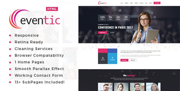 Eventic - Conference & Event HTML Template - Events Entertainment