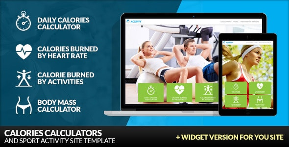 Activity - Sport and Fitness Site Template - Health & Beauty Retail