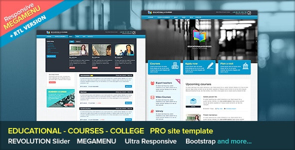 Edu - Educational and Courses Site Template - Corporate Site Templates