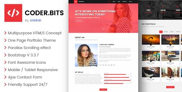 Frontend Developer Portfolio HTML Website Template