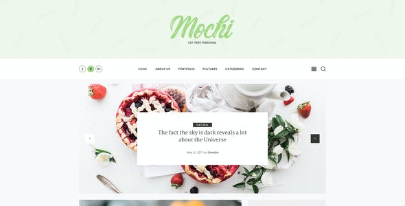 Mochi - Clean Personal Blog PSD Template