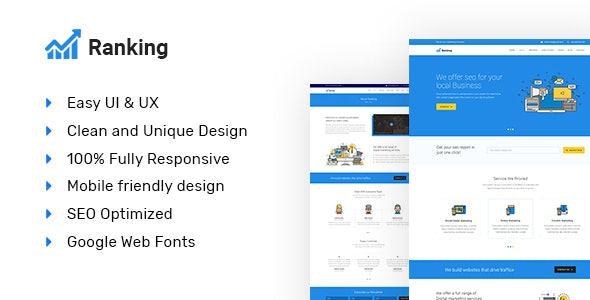 Ranking - SEO and Marketing Responsive HTML5 Template - Marketing Corporate